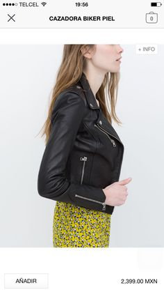Image 5 of LEATHER BIKER JACKET from Zara Parisian Chic Style fac9c020a06