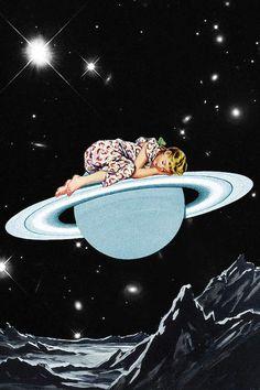 Look what I found on Eugenia Loli Sleepy Head Gallery-Wrapped Canvas Collage Art, Collages, Eugenia Loli, Vintage Art Prints, Pop Surrealism, Dope Art, Retro Futurism, Retro Art, Pics Art