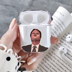 The Office Tv show AirPods case Dwight Schrute AirPods case TV show AirPods clear case the Office Dwight Case AirPods 2 cover Apple Air pods