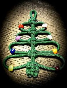 3 pcs paracord christmas ornaments wreath tree candy cane - Boy Scout Christmas Trees