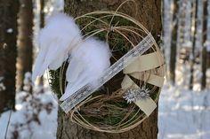 Weihnachtsgeschenke - Türkranz Vintage winter- Wintertürkranz edel - ein Designerstück von LobbyGreen bei DaWanda