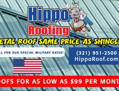 Hippo Roofing  |  Military Discount Network