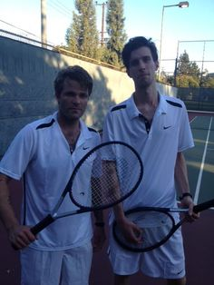 3 oh! 3 getting their tennis on!
