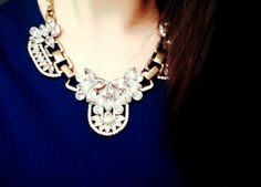 Be Inspired Vintage Style Statement Necklace #happinessbtq