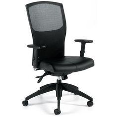 Global Alero 1961-3 - Mid mesh back tilter chair - Leather - Mock Leather Black 450-550 FREE Shipping in Canada!