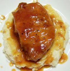 Drunken Pork Chops -  The sauce is totally delicious!!