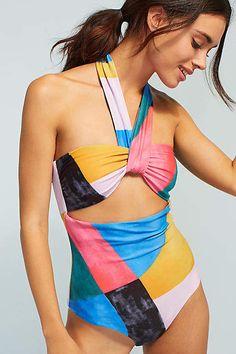 Mara Hoffman Cleo Cut-Out One-Piece Swimsuit Swimwear Fashion 083ec435bf