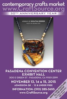 Wonderful holiday shopping at the Pasadena Convention Center this November. Print out this image for two free admissions!