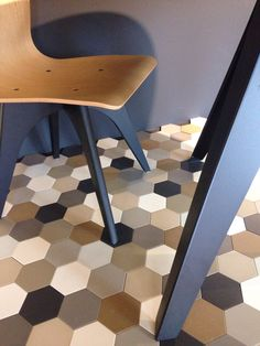 Hexagon tiles by Winckelmans. Photo coutesy of Intercodam, Amsterdam, NL.  http://www.intercodam-tegels.nl/