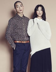 Choi Jun Young and Park Sung Jin by Mok Jung Wook for W Korea Sept 2014 Park Sung Jin, W Korea, Jun, Singing, Turtle Neck, Sweaters, Fashion, Moda, Fashion Styles