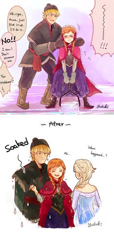 XD HAHAHA!!! I can totally see this happening! #Kristoff #Anna / Ice Harvester Anna! by Yudukichi.deviantart.com on deviantART