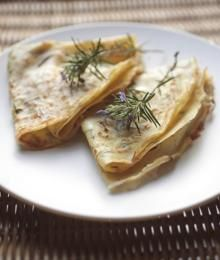 Rosemary and chickpeas crepe