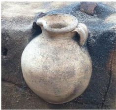 Intact Wine Jug Discovered in Scandinavia's Oldest City | Friday, June 12, 2015. An intact wine pitcher produced in a workshop in France or Belgium and estimated to be 1,000 years old has been unearthed in Denmark.