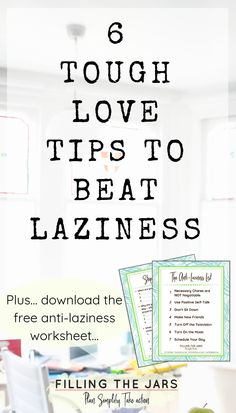 Want to improve your life? Stop being lazy! Here's how to motivate yourself to get everything done AND stop procrastinating on big life goals. Stop Being Lazy, Life Hacks, Positive Self Talk, How To Stop Procrastinating, Tough Love, Self Care Activities, Self Discipline, Time Management Tips, Self Improvement Tips