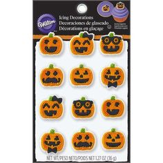 Halloween Jack-O-Lantern Candy Decorations
