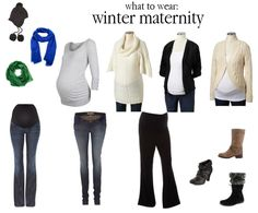 ideas on what to wear for winter maternity shoot!
