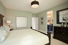 Mint Bedroom.Great wall decorations