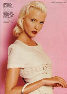 """""""Barbie"""", Vogue Italia, April 1994 Photographer: Michel Comte Model: Nadja Auermann"""