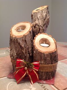 Unique Rustic Candle Holders. Easy & Affordable!
