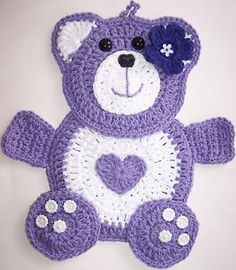 Crochet Teddy Bear Potholder
