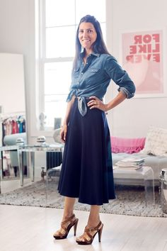 How designer Ariane Goldman rocks the denim button-down. How would you wear yours?