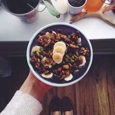 Blueberry Chlorella Smoothie Bowl #bestlifeproject