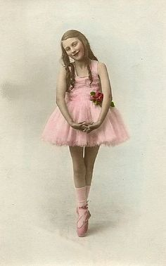 Vintage Ballerina in Pink.