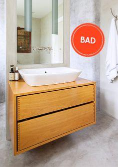 Se et udvalg af vores badeværelsesmøbler her.