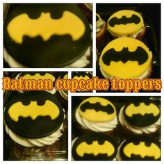 Batman design cupcakes