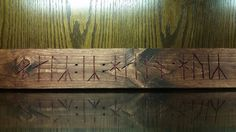 """Board 3.5 x 24  - """"Home is Hall"""" (Old Norse) / viking home art, old norse home…"""