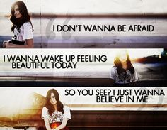 I was a lot like miss Demi! I wanted to believe in myself and then I learned to become a skyscraper and now I'm a warrior!!! She had help me along the way! But to be honest...all of the jerks, bullies and hard trials I have faced in my life has helped me become who I am today! I wouldn't be this strong without them and most of all without my Savior! He is my biggest hero!!! I owe it all to Him!!!♡