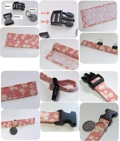 As an Original dog collar we just need a nice fabric to give it a accesorios perros Diy Dog Collar, Cat Collars, Dog Crafts, Animal Crafts, Dog Clothes Patterns, Dog Items, Animal Projects, Dog Dresses, Dog Bandana