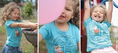 Having fun in the sun! Welcome Summer!! #treehouse #Micastricas #tshirt #handprinted #kidsclothes