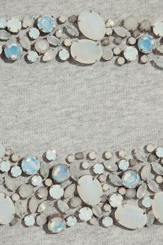 adam cotton sweater embellishment but why not use pattern for beach glass, stone ...