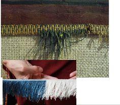 medieval burgundy banner fringe