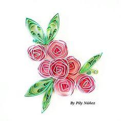 Diseño floral 5 Floral Design 5 Mismos elementos dispuestos en forma diferente Same elements arranged differently  #квиллинг #quillingartist #flowers #papercraft #crafty #chile #paperquilling #instagood #picoftheday #quilling #creativity #flores #filigrana #pilynuñez #inspiracion #quilledcreations #decoracion #quilled #colors #floral #diseño #domingo #papel #rancagua