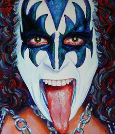 Pochette Cd, Kiss World, Gene Simmons Kiss, Christmas Paintings On Canvas, Kiss Rock Bands, Kiss Art, Fine Art Drawing, Greatest Rock Bands, Hot Band