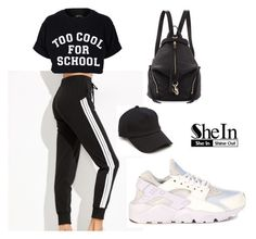 """""""SHEIN Striped Pants"""" by tania-alves ❤ liked on Polyvore featuring NIKE, Filles à papa, Rebecca Minkoff and rag & bone"""