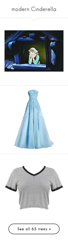 """""""modern Cinderella"""" by desert-witch ❤ liked on Polyvore featuring dresses, gowns, long dresses, blue, blue long dress, blue dress, blue evening dresses, blue gown, tops and t-shirts"""