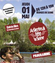 Argenteuil fête la Seine. Le jeudi 1er mai 2014 à argenteuil.  12H00
