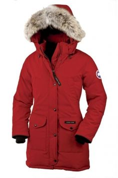 Canada Goose Outlet Trillium Parka Women Red - $309