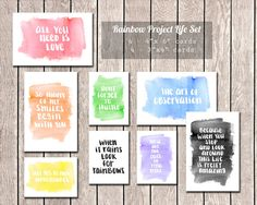 Watercolor Project Life  Rainbow Project by thestuffstephmakes