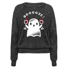 Get graveyard smashed with this cute spooky ghost! This fun Halloween shirt features an illustration of a ghost double fisting wine goblets.