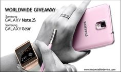 Samsung galaxy note 3 and galaxy gear giveaway