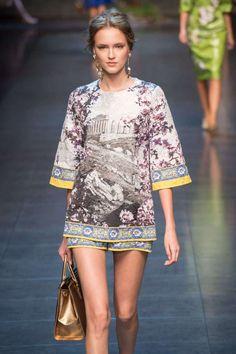@dolcegabbana Spring 2014, three qurters sleeves blouse of the adult line. #landscape #dolcegabbana #springsummer2014 #SS14 #children #kids #childrenwear #kidswear #girls #boys