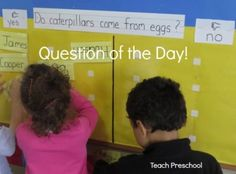 Question of the day! How we explored a question of the day in our classroom!