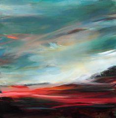 "Saatchi Art Artist Ute Laum; Painting, ""abstract landscape painting Norddeutscher Himmel"" #art"