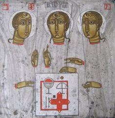Contemporary Holy Trinity Icon