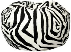 Classic Bean Bag Zebra-The Classic Bean Bag has been everyone's favorite chair for over 40 years! Updated with bright solids and fashion forward printsTrendy and comfortable seating that's great for all agesUltimaX Beans filling
