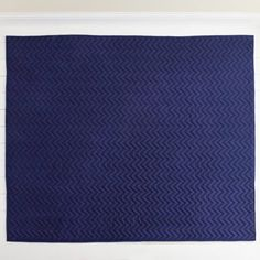 Reversible Quilted Bedcover - Navy